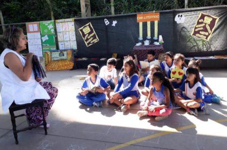 Projeto Chá Literário em escola de Itupeva