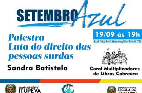 Setembro Azul: Câmara terá palestra sobre luta do direito das pessoas surdas na quinta, 19