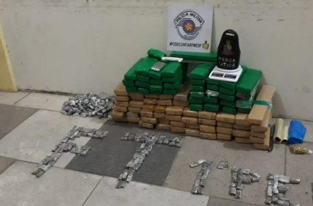 Trio é preso com mais de 80 quilos de maconha em condomínio de Votorantim