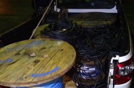 Trio é preso ao tentar furtar cabos de cobre de galpão da prefeitura e da Sabesp em Cabreúva