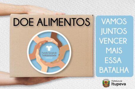 Coronavírus: Fundo Social de Solidariedade receberá doações de alimentos e outros itens em Itupeva