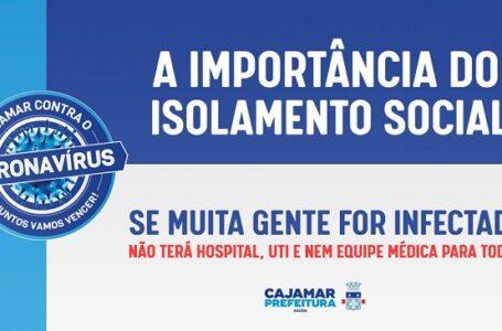 Isolamento social é fundamental para evitar risco à saúde em Cajamar
