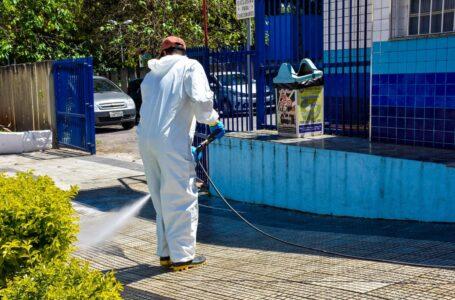 Prefeitura realiza desinfecção em pontos de maior circulação do município em Cajamar