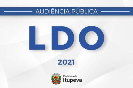 Audiência Pública sobre a elaboração da L.D.O. será disponibilizada no site da Prefeitura no dia 27 de abril de 2020 em Itupeva