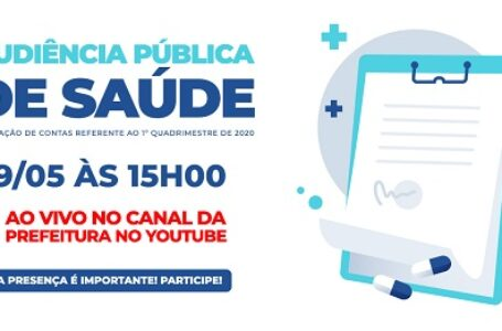 Secretaria de Saúde realizará Audiência Pública referente ao 1º Quadrimestre de 2020 em Cajamar
